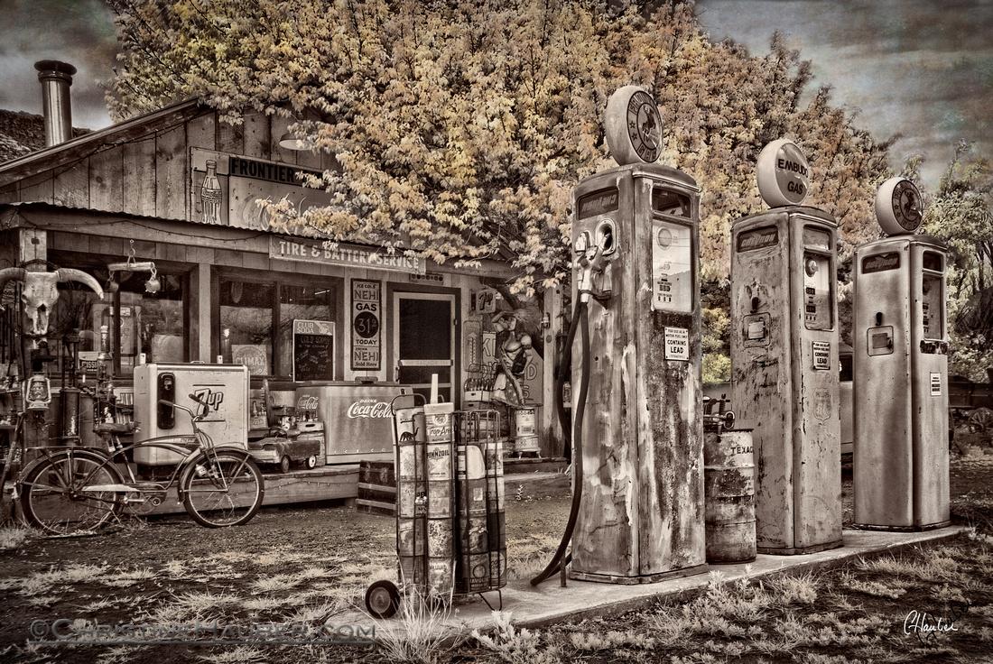 Colorized Vintage Gas