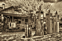 Vintage gas station photographed in New Mexico using digital infrared during Matt Suess' and my Santa Fe Photography workshop.